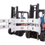 Gabelstaplerteile Gabelstapler-Anbaugeräte Stahlrotator-Papierrollenklemme