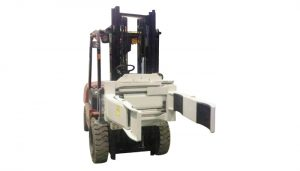 Effiziente hydraulische Gabelstapler-Befestigung Drehbare Gabelklemme (2-Paar-Gabel)