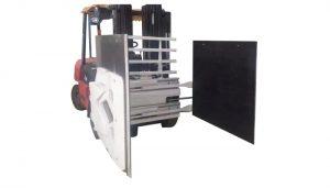 Kartonklemme für gabelstapler, gabelstapler anbau kartonklemme, kartonhandler.