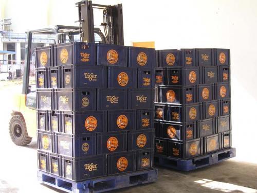 Doppelseitenschieber-Gebrauch in der Getränkeindustrie